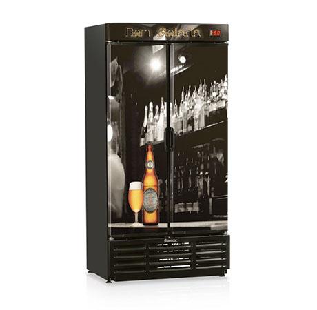 Beer Cooler 2 puerta sólidas-miniatura